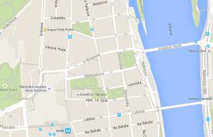 HUB Praha - mapa